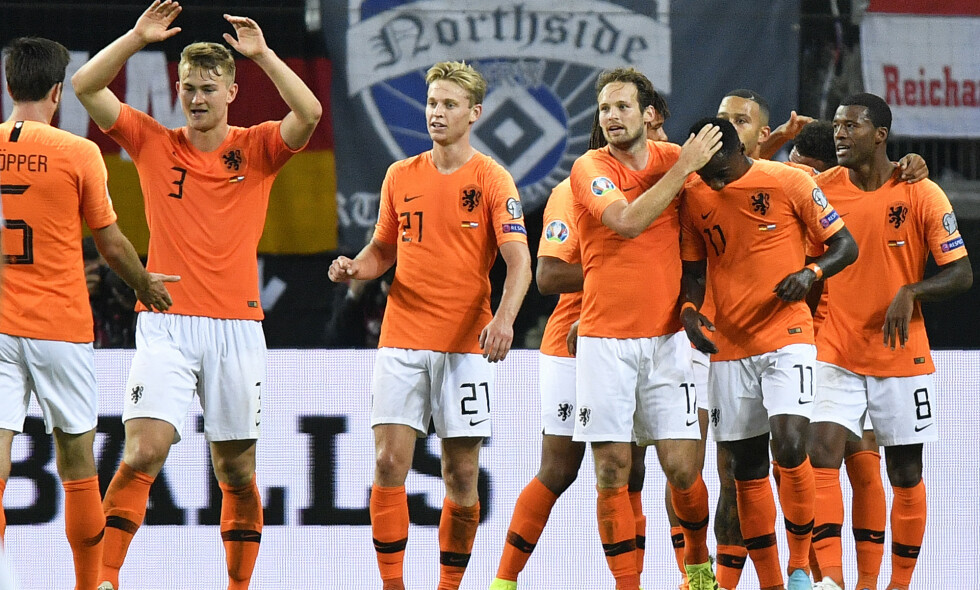 VANT: Nederland slo Tyskland 4-2 i Tyskland. Foto: AP Photo / Martin Meissner/ NTB Scanpix