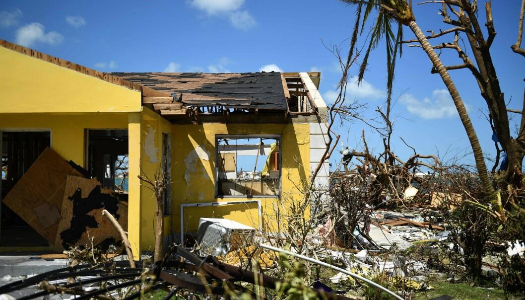 TOTALE ØDELEGGELSER: På Bahamas. Foto: NTB Scanpix