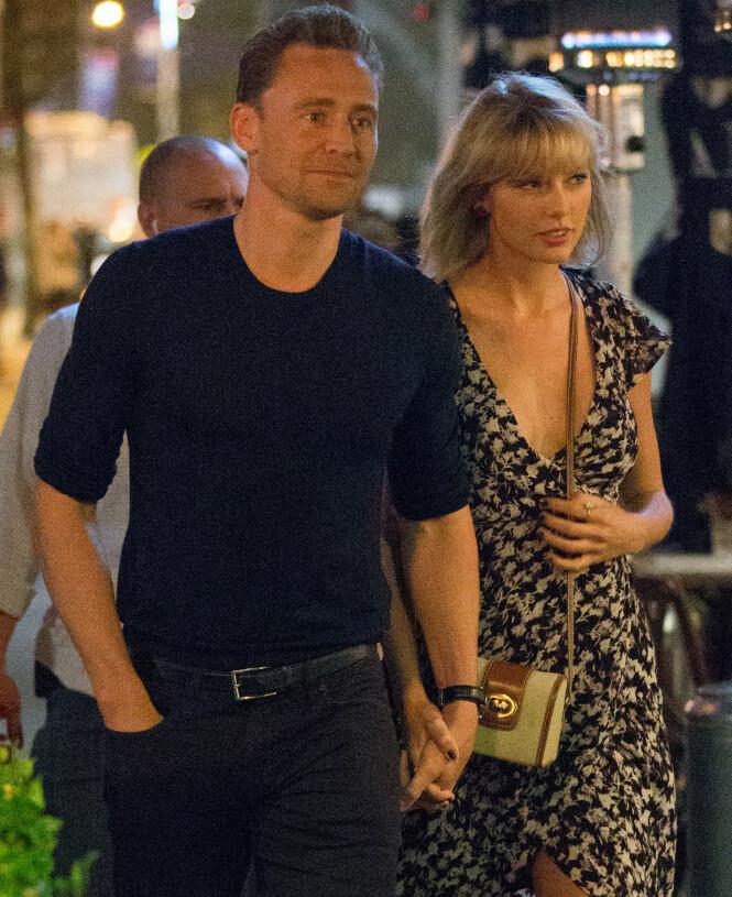 DEN GANG DA: Tom Hiddleston og Taylor Swifts forhold tok brått slutt i september 2016 - kun tre måneder etter at de ble kjærester. Foto: NTB Scanpix