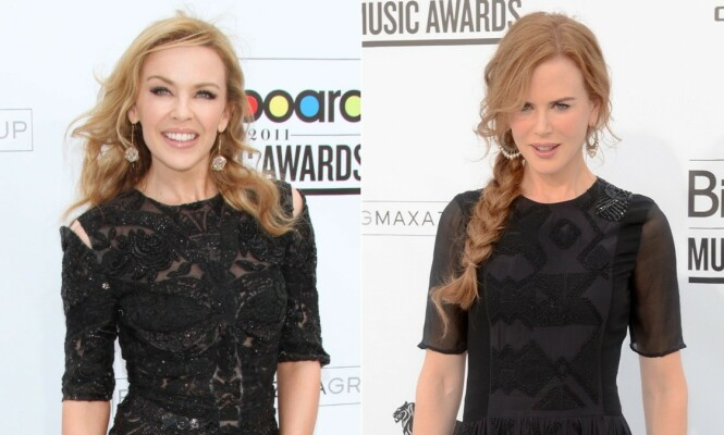 RØD LØPER: Minogue og Kidman har flere ganger vært på samme arrangement, men aldri blitt observert eller avbildet sammen. Her under Billboard Awards i 2011. Foto: NTB Scanpix