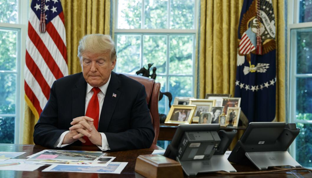 President Donald Trump har angivelig avlyst møter med Afghanistans toppledelse søndag. Arkivfoto: Evan Vucci / AP / NTB scanpix