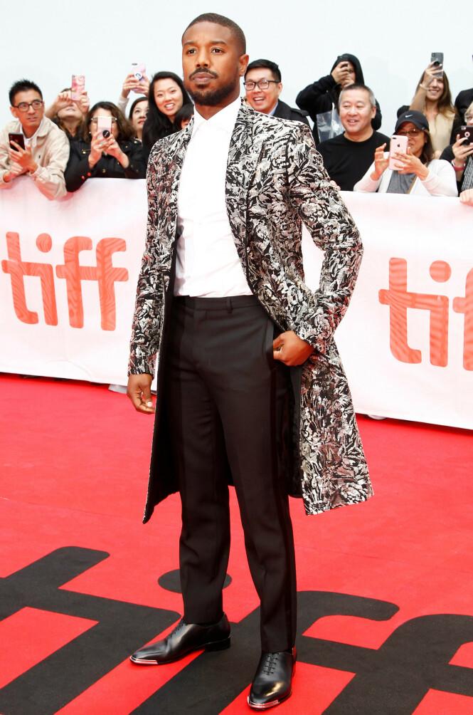 MICHAEL B. JORDAN: Flere moteeksperter mener skuespilleren har vært best kledd blant de mannlige skuespillerne under festivalen så langt. Her ikledd Givenchy. Foto: NTB Scanpix