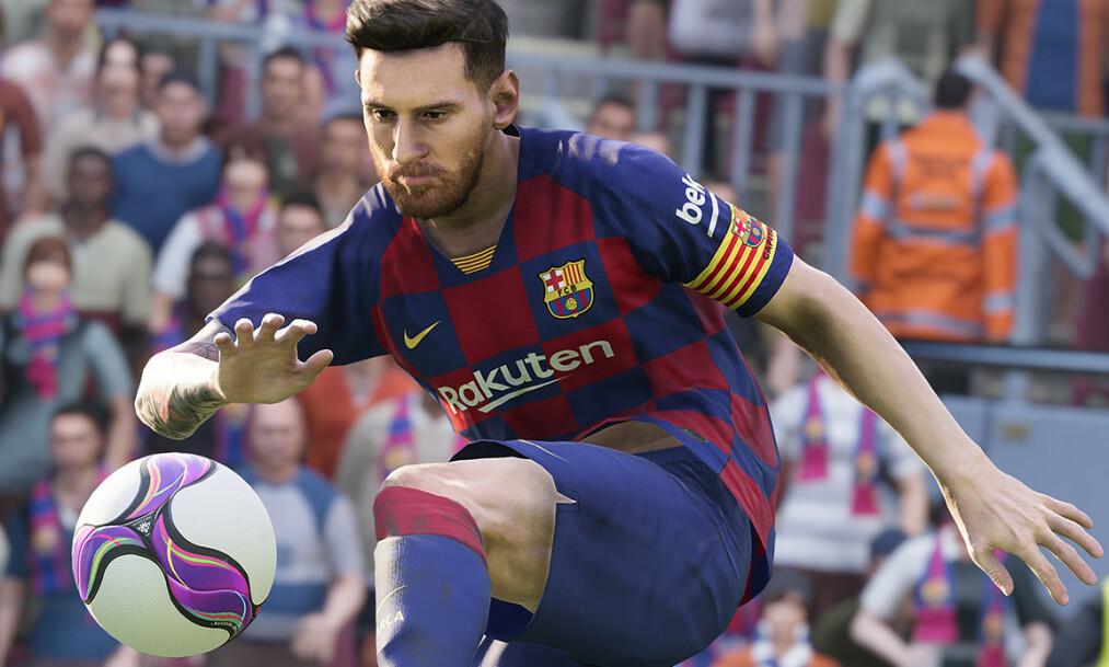<strong>SUPERSTJERNE:</strong> Lionel Messi pryder coveret av det nye PES-spillet. Foto: Pro Evolution Soccer