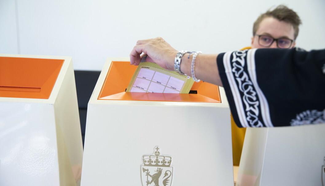 Over 64 prosent brukte stemmeretten sin ved kommunestyrevalget i 2019, viser foreløpige tall. Foto: Berit Roald / NTB scanpix