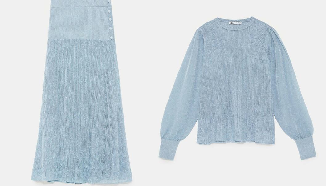 Skjørt (kroner 399) og genser (kroner 399) fra Zara. Foto: Produsenten
