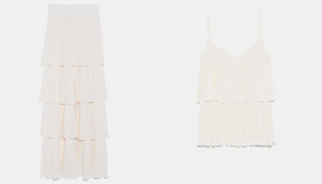 Bukse (kroner 599) og topp (kroner 299) fra Zara. Foto: Produsenten