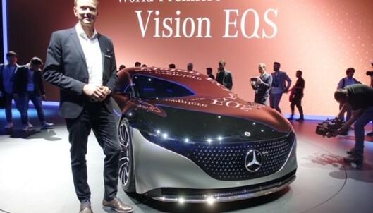 Adm.dir. i MerCedes Benz Norge Kjetil Myhre sier bilen vil komme før 2022. Foto: Fred Magne Skillebæk