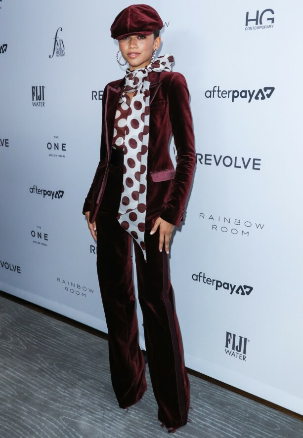 ZENDAYA: «Euphoria»-stjernen på The Daily Front Row Fashion Media Awards forrige uke. Foto: NTB scanpix