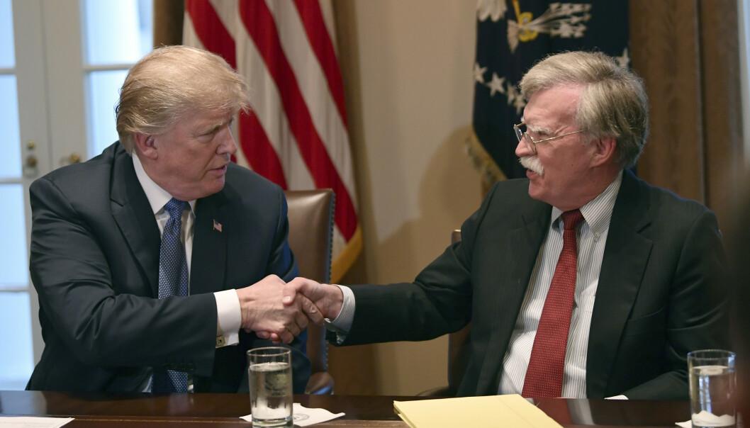 Trump sparker John Bolton