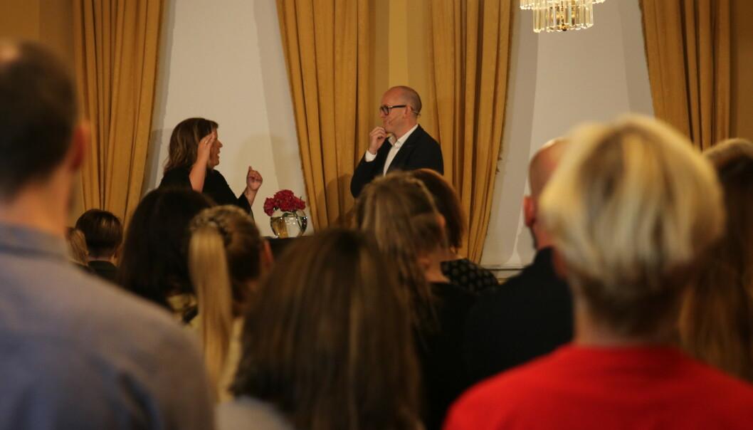 PERSONLIG: Oddvar Vignes delte sin personlige historie, om da han forsøkte å begå selvmord i 2009. FOTO: Statsministerens kontor