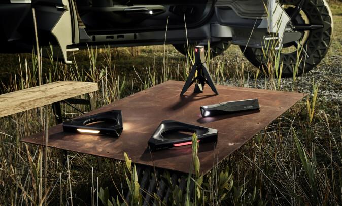 DRONER: Audi har gitt AI:Trail droner som erstatter konvensjonelle fjernlys. Foto: Audi