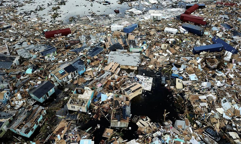 DORIAN: Bygninger knust til pinneved av orkanen Dorian i Marsh Harbour på Great Abaco Island på Bahamas. Foto: AL Diaz/Miami Herald via AP / NTB Scanpix