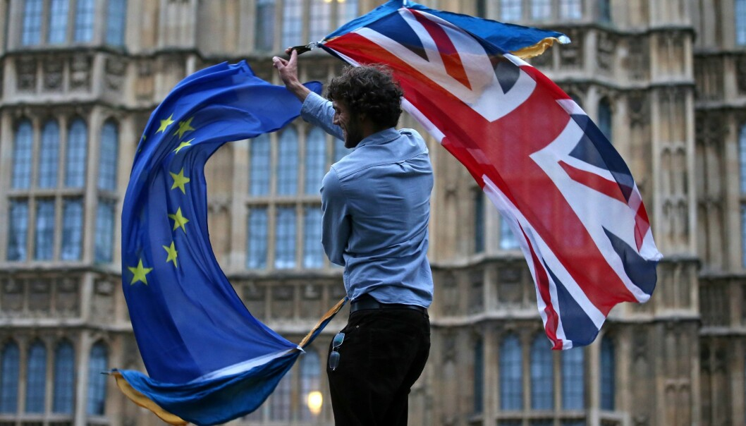 Den britiske regjeringen frykter kaos dersom det gjennomføres hard brexit. Foto: NTB scanpix / AFP