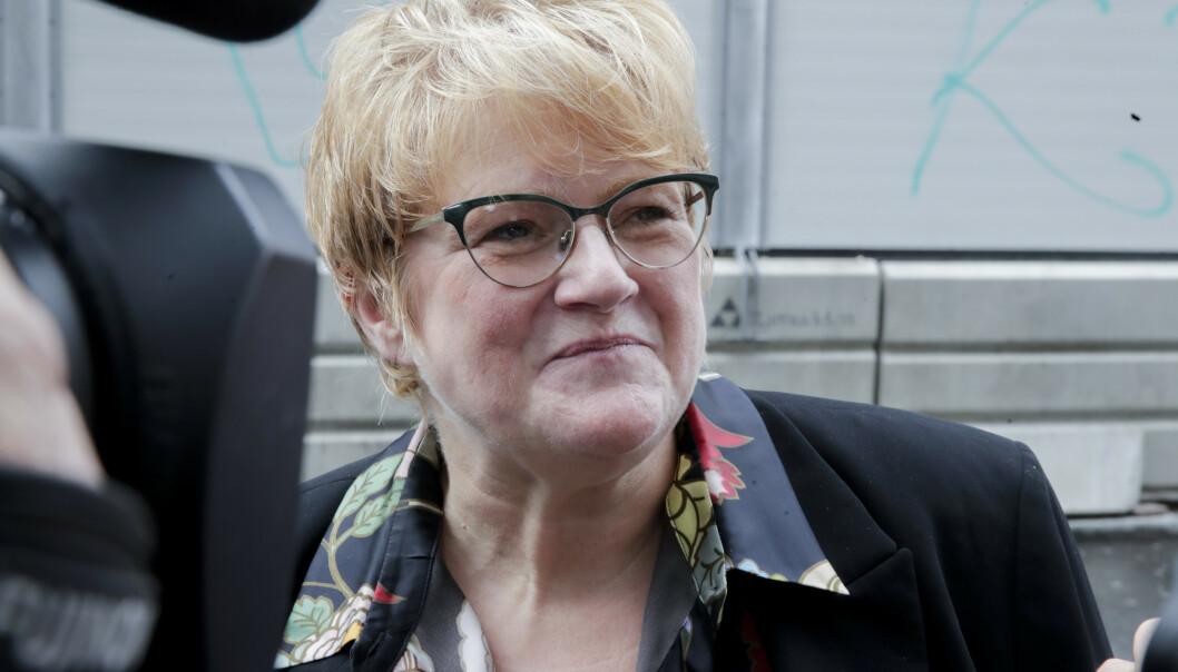 Det å være partileder er ikke alltid en popularitetsmåling, sier Venstre-leder Trine Skei Grande. Foto: Vidar Ruud / NTB scanpix