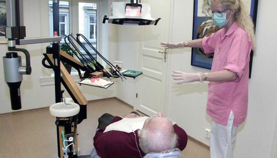 <strong>SVIKTER:</strong> Vårt samfunn svikter totalt på et punkt som er av stor betydning for livskvaliteten for eldre med hjemmesykepleie – få av dem får den tannbehandlingen de trenger, skriver innsenderen. Foto: Lise Åserud / NTB Scanpix