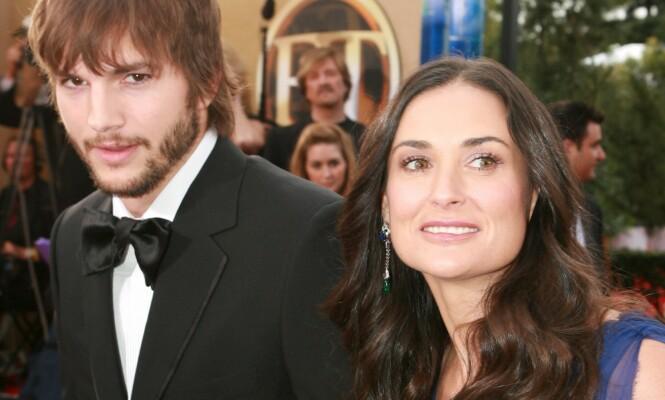 <strong>SKILT:</strong> Demi Moore og Ashton Kutcher skilte seg etter et turbulent ekteskap. Foto: NTB Scanpix