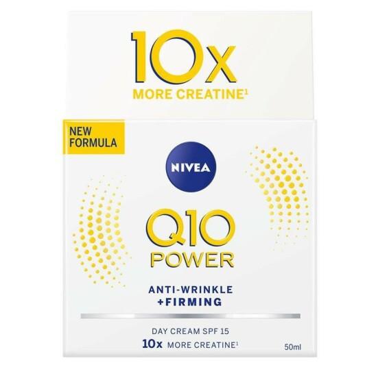 Fuktkrem  NIVEA   https://www.nivea.no/produkter/q10-power-anti-wrinkle-plusfirming-nourishing-day-cream-4005808918959006863.html?utm_source=kk&utm_medium=native&utm_campaign=NO_C204_NIV_Face_Q10Care