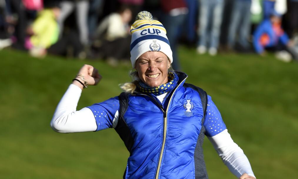 TAKKER FOR SEG: Suzann Pettersen avslørte søndag kveld at hun gir seg som golfspiller. Foto: NTB Scanpix