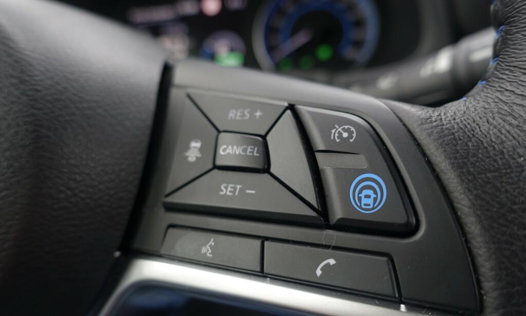 AUTONOM: Nissan synes deres autonome er såpass bra at de har gitt den et nytt symbol. Den fungerer tilfredsstillende i de fleste tilfeller. Foto: Rune M. Nesheim