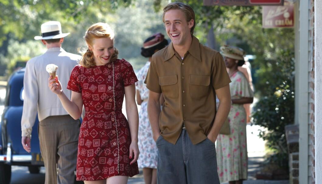 BLE ET PAR: Ikke bare på skjermen – også i virkeligheten! Gosling og McAdams kranglet så busta føk under innspillingen av «The Notebook», men ble senere kjærester. Duoen datet i to år før de gikk hver til sitt. FOTO: Scanpix