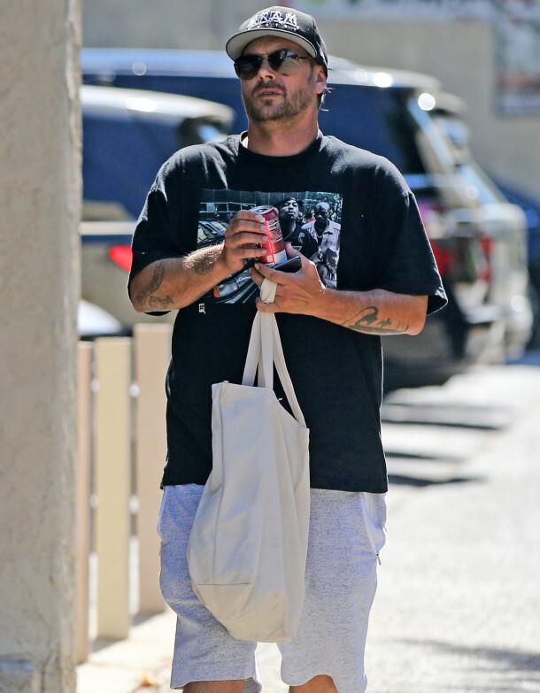 KEVIN FEDERLINE: Det var eksmannen til Britney Spears som anmeldte Jamie Spears for barnemishandling. Her er han avbildet i starten av september. Foto: Splash News/ NTB scanpix