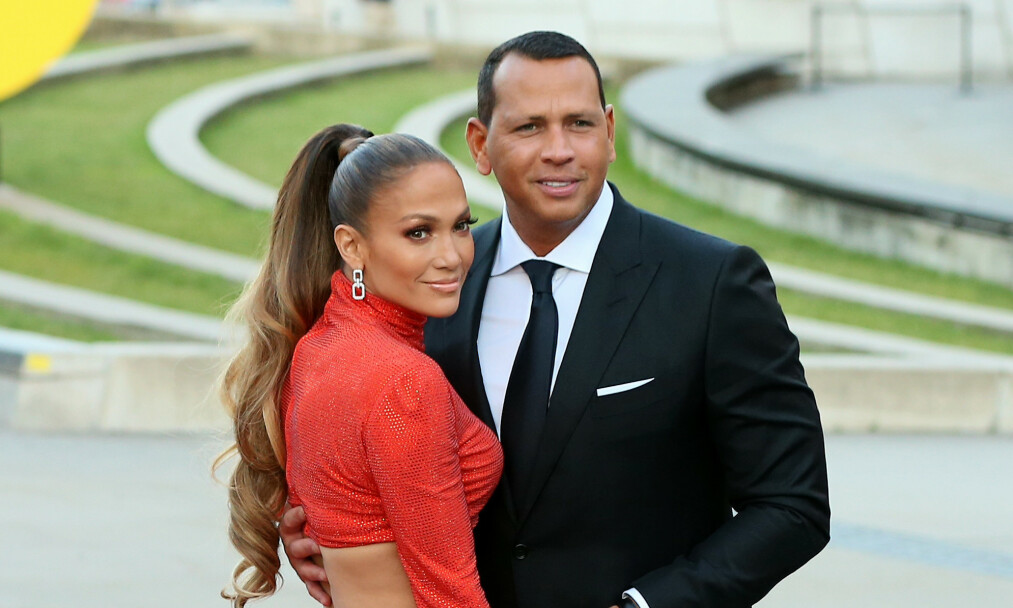BRYLLUP OG BARN: Jennifer Lopez og Alex Rodriguez ser frem mot å dele resten av livet sammen. Foto: NTB Scanpix
