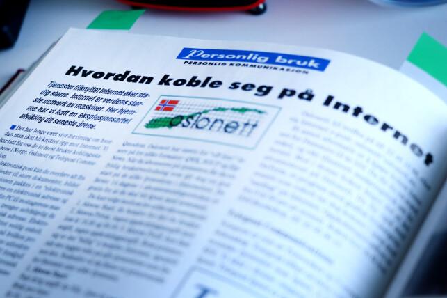 Å koble seg på internett med Oslonett var en kostbar affære; tilsvarende opptil 84 kroner timen i den dyreste perioden av døgnet. 📸: Ole Petter Baugerød Stokke