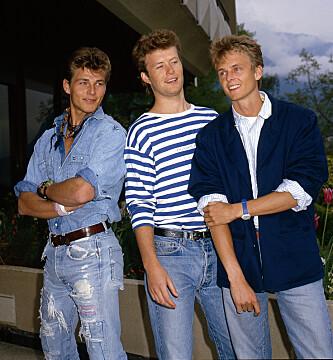 <strong>STOR TRIO:</strong> Morten Harket, Magne Furuholmen og Paul Waaktaar-Savoy var unge og fattige da de fulgte drømmen om å bli popstjerner. Her er de fotografert i 1987. Foto: NTB Scanpix