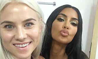 image: Norske Rikke henger med Kim Kardashian