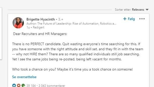 Merkevarebygging av personer og selskaper samt motivasjons-tekster er et vanlig skue på LinkedIn.