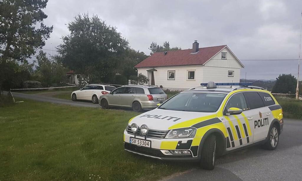 Et eldre ektepar ble 27. juni funnet drept på Kolltveit på Sotra utenfor Bergen. Sønnen er siktet for drapene. Foto: Richard Halland / NTB scanpix