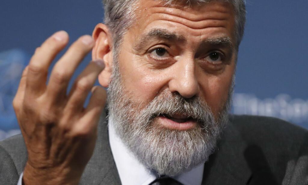 Sør-Sudans politiske og militære ledere plyndrer landet for ressurser og stikker milliarder i egne lommer, i tett samarbeid med utenlandske selskap og forretningsfolk, slår skuespilleren George Clooney fast. Han er en av grunnleggerne av The Sentry, en organisasjon av gravejournalister, menneskerettsaktivister, politietterforskere og økonomer, som overvåker strømmen av våpen og penger til opprørere og militsgrupper i Afrika. Foto: AP / NTB scanpix