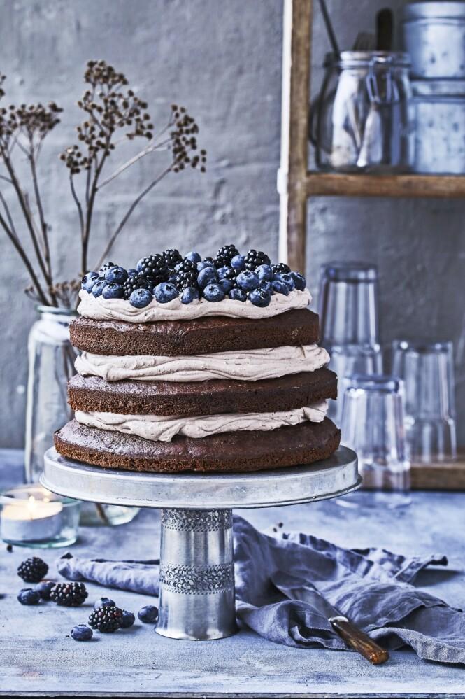 Kaffen gir kremen på denne kaken en nydelig smak. FOTO: Winnie Methmann