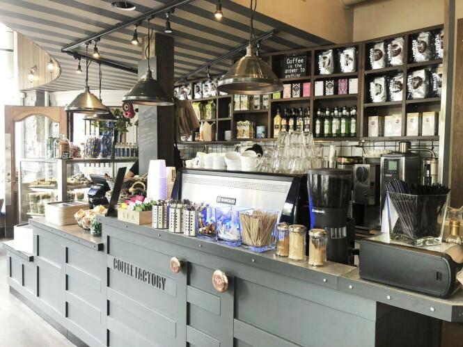 """Coffe Factory er et hyggelig sted for en """"fika"""". FOTO: Dorte Mosbæk"""