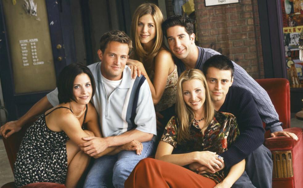 SUKSESS: Vi er fremdeles like glade i karakterene Monica, Chandler, Rachel, Ross, Joey og Phoebe. Foto: Scanpix