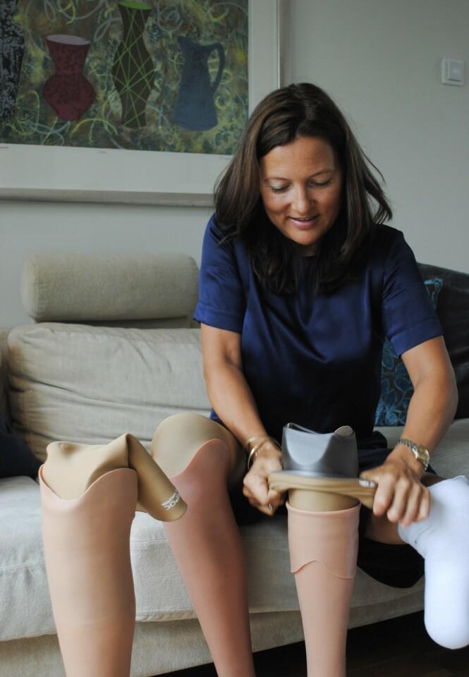 STA: Bare etter noen uker kastet Helene krykkene. FOTO: Aleksandra Brillanti