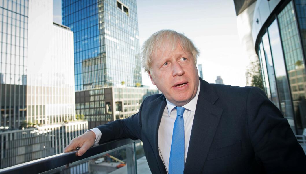 Boris Johnson i New York etter at det ble kjent at suspensjonen av det britiske parlamentet var ulovlig. Foto: Stefan Rousseau / Pa photos / NTB scanpix