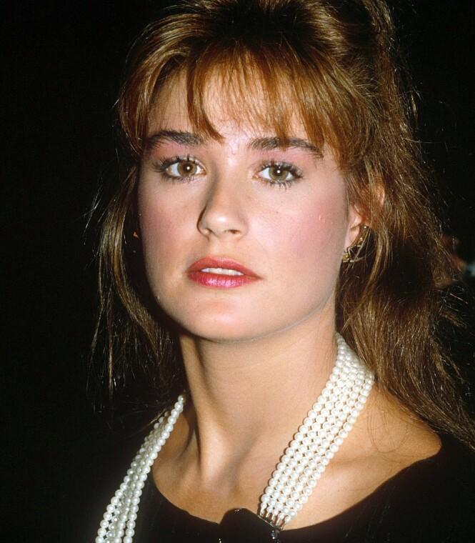 <strong>UNG STJERNE:</strong> Demi Moore ble et stort navn i Hollywood på 1980- og 1990-tallet. Her er hun i 1988, da hun var i midten av 20-årene. Foto: REX/ NTB scanpix