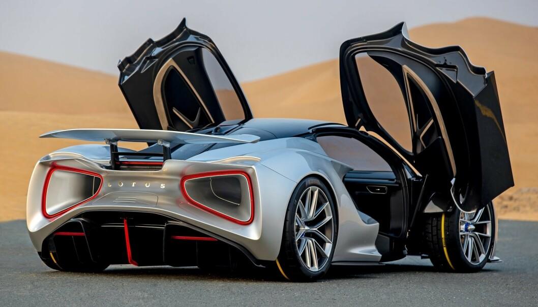 <strong>LYN-KJAPP:</strong> Det koster 2,7 millioner kroner bare for å kunne sette seg på reservasjonslista til den nye Lotus Evija. Foto: Lotus