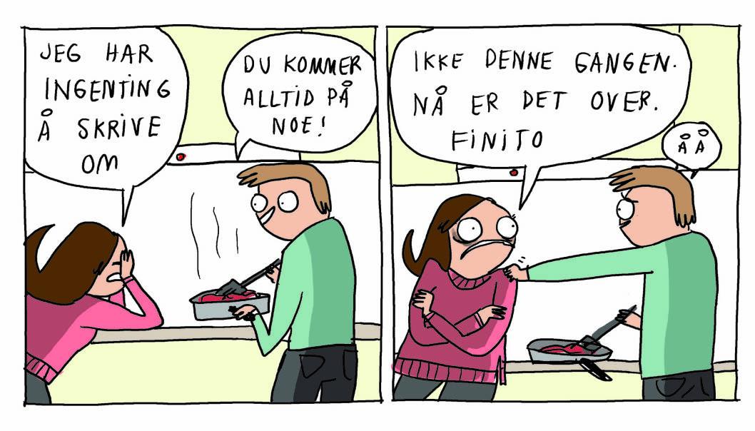 DAGBOK: Hanne bruker tegner alltid tegneserier ut i fra sitt eget liv. FOTO: Tegnehanne