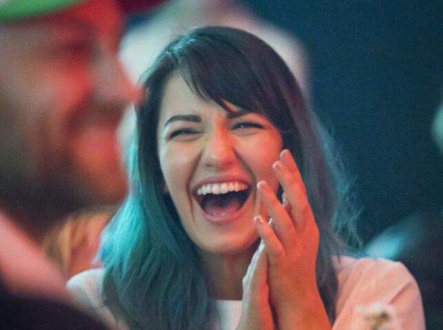 LYKKEN SMILER: Den populære programlederen har fått seg kjæreste. Foto: Tore Skaar / Se og Hør