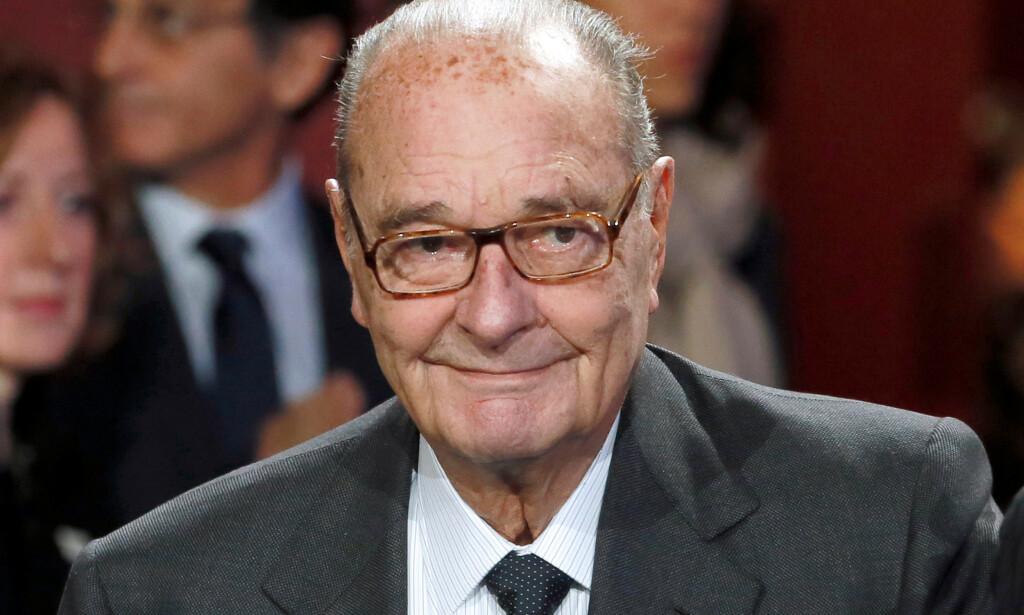 Tidligere president Jacques Chirac, her under en prisutdeling i Paris i 2014, er død, 86 år gammel. Foto: REUTERS/Patrick Kovarik/Pool/File Photo