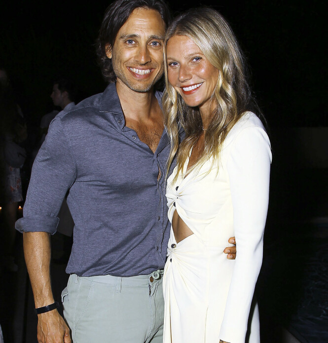 <strong>LYKKELIGE:</strong> Gwyneth Paltrow og Brad Falchuk kan snart feire ett års bryllupsdag. Her er de på en Net ix-premiere i august. Foto: Starpix for Netflix/ Shutterstock/ NTB scanpix