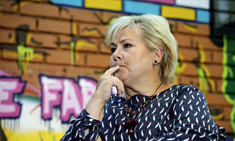 SJUENDE ÅR: Statsminister Erna Solberg rådes til å tydeliggjøre Høyres politikk når hun nå tar fatt på sitt sjuende år som regjeringssjef og borgerlig brobygger. Foto: Nina Hansen / Dagbladet