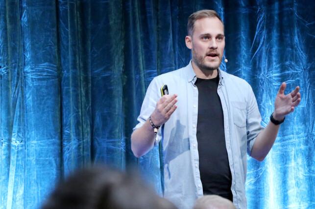 Produktsjef Espen Sundve i Kolonial.no får blant annet utviklerne sine til å jobbe sammen gjennom åpenhet. 📸: Ole Petter Baugerød Stokke