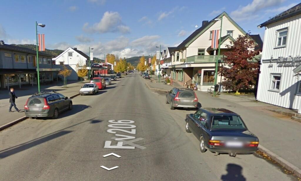 SINDIG I ÅSNES: I Åsnes kommune i Hedmark, der Flisa er sentrum, finner vi landets mest sindige og rolig sjåfører, ifølge tall fra forsikringsselskapet Fremtind som har logget kjørestilen til kundene sine over 200 millioner kjørte kilometer. Foto: Google Street View.