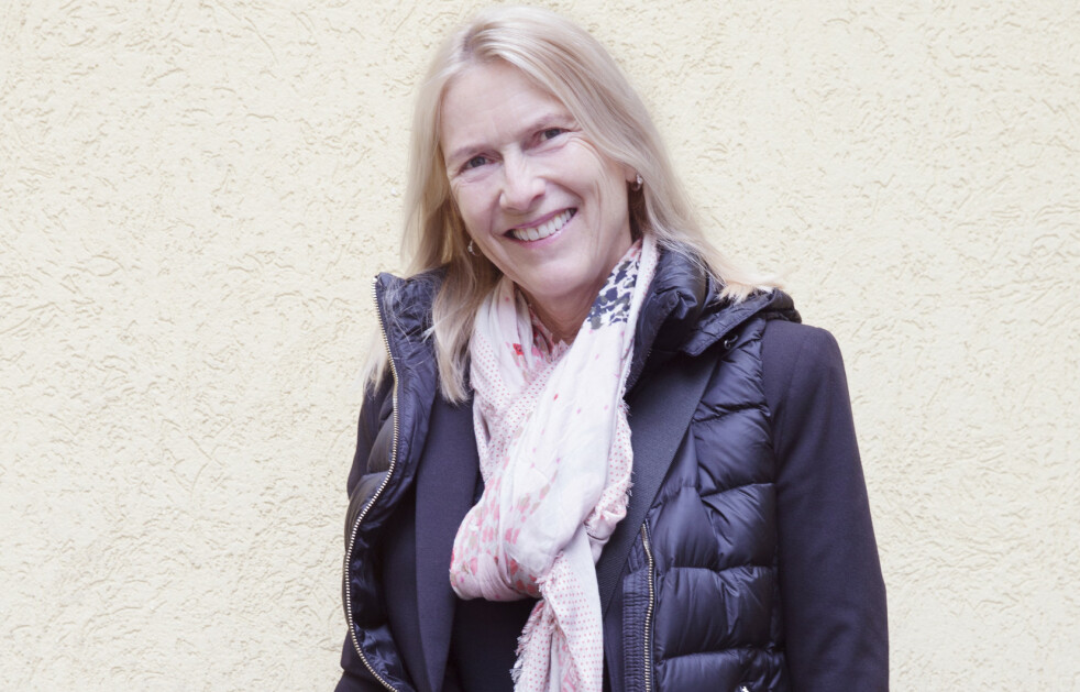 FØR: Bjørg liker en behagelig stil, og mest går hun i treningsklær. Foto: Yvonne Wilhelmsen