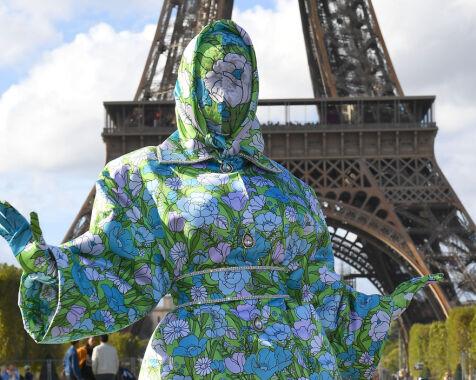 image: Slik dukket superstjernen opp på moteuken i Paris