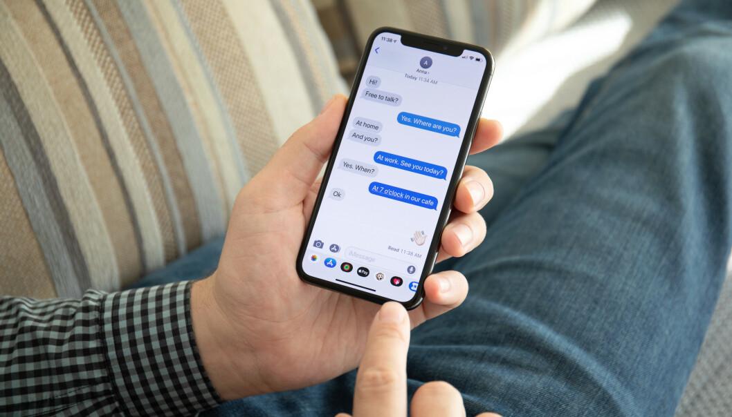 <strong>MESSENGER-TILGANG:</strong> Ved kjøp av ny telefon til dattera, fikk Geir Åkerland tilgang til en annen persons Messenger-konto. Illustrasjonsfoto: NTB Scanpix