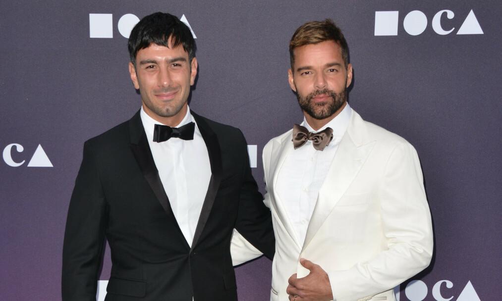 <strong>FEM BLIR TIL SEKS:</strong> Ricky Martin og Jwan Yosef utvider familien ytterligere. Her er duoen sammen på et event i London i mai. Foto: NTB Scanpix